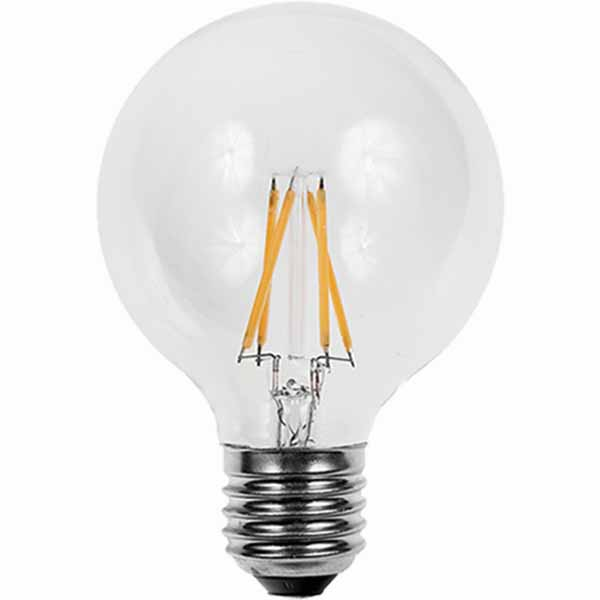 Λάμπα Led Filament Γλόμπος G125 με Διάφανο Γυαλί, E27, 7W, 800lm, Dimmable