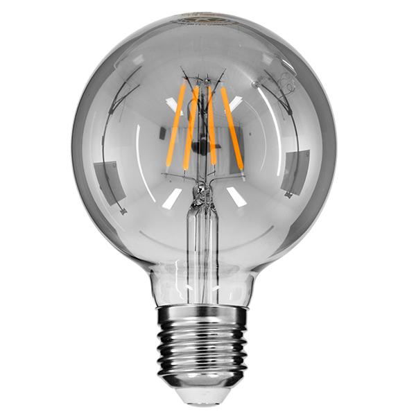 Λάμπα Led Filament Γλόμπος G95 με Φιμέ Γυαλί, E27, 4W, 400lm